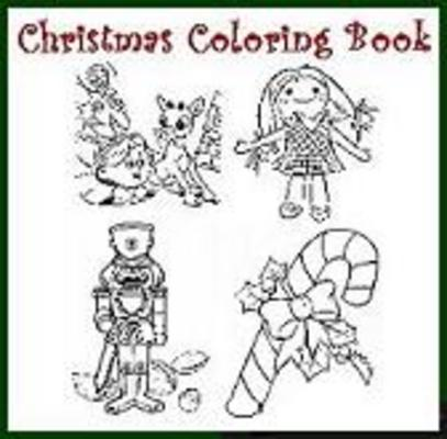 Product picture  Christmas Printable Coloring Books